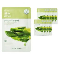THE FACE SHOP Face Mask with Aloe Extract 10ea