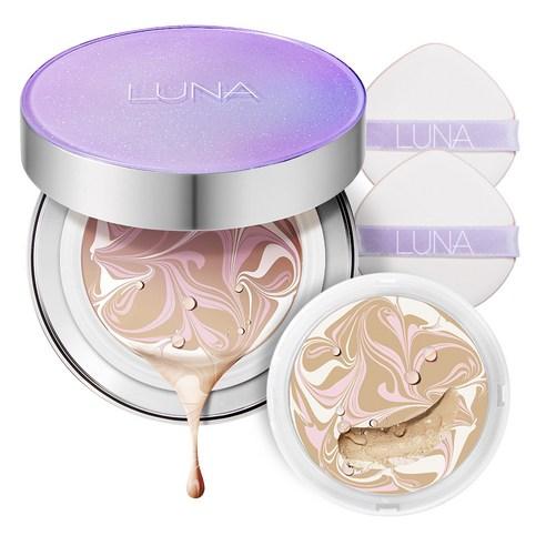 LUNA Essence Water Pact FX Violet Aurora SPF 50 PA+++ 12.5g + Refill 12.5g