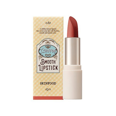 SKINFOOD Chiffon Smooth Lipstick Carrot Coral no08 3.5g