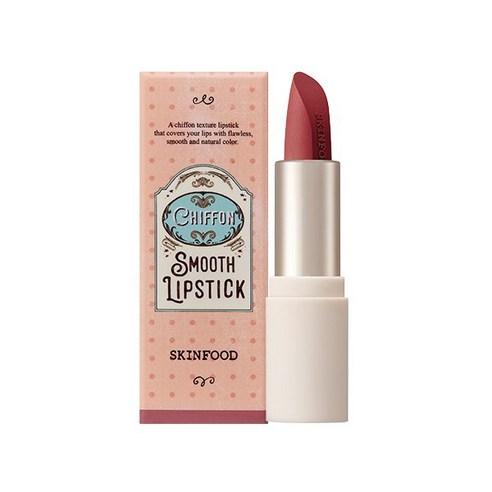 SKINFOOD Chiffon Smooth Lipstick Mauve Almond no04 3.5g