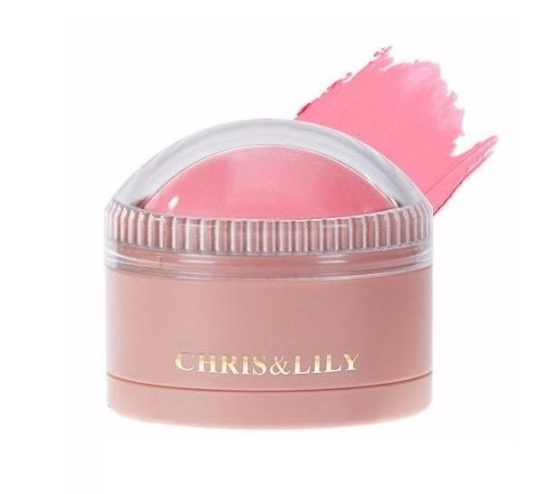 CHRIS&LILY Dome Gle Blusher Strawberry Pink PK02 11g